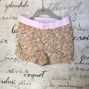 3t floral summer shorts with pink bow detail